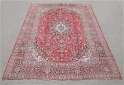Hand Woven Semi Antique Persian Kashan 13.2x9.7