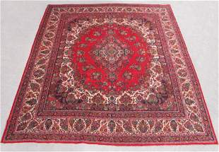 Finely Knotted Semi Antique Square Persian Sarouk 16x16