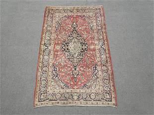 Spectacular Semi Antique Persian Kashan 4.10x8.0