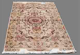 Stunning w/Silk Persian Tabriz 5.2x3.4