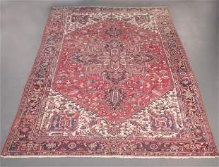 Semi Antique Persian Heriz 9.8x13.2