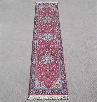Handmade Wool/Silk Azerbaijani Tabriz 2.6x10.0