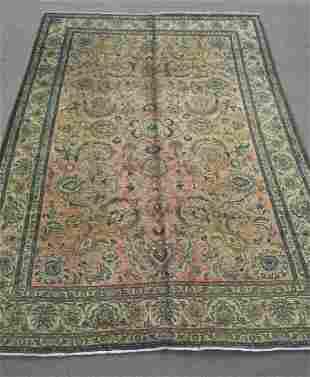 Semi Antique All-over Persian Tabriz 8.4x8.11