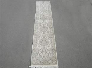 Handmade Wool/Silk Tabriz Design 2.6x12.0