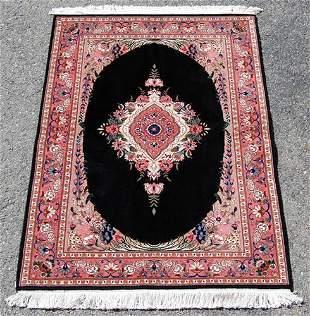 Unique Dark tone w/Silk Persian Tabriz 3.4x4.11