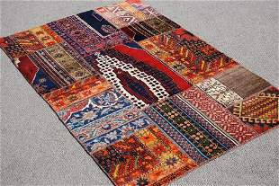 Handmade Semi Antique Turkish Kilim 4.6x6.9