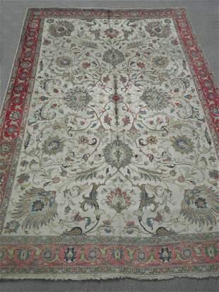 Semi Antique All-over Persian Tabriz 8.7x12.3