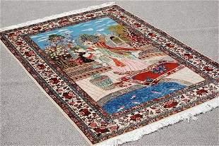Splendid And Enchanting Fine Persian Sarouk Pictorial