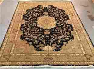 Handmade Wool/Silk Azerbaijani Kashan 12.0x18.0