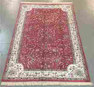 Handmade Indo Kashan 6.0x9.3
