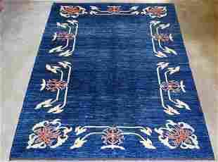 Gorgeous Open Field Ocean Blue Rug