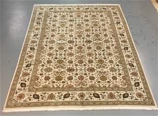Handmade Wool/Silk Azerbaijani Kashan 9.9x13.9