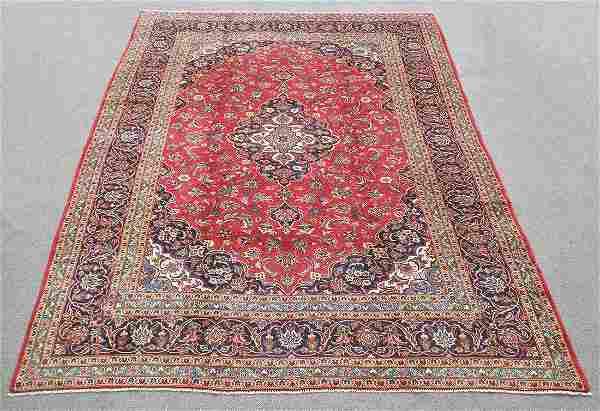 Semi Antique Persian Kashan 12.8x9.5