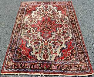 Semi Antique Handmade Persian Lilian 4.5x6.5