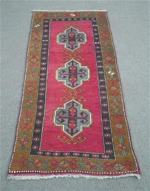 Turkish Handmade Rug 3.4x6.8