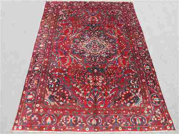 Highly Detailed Hand Woven Semi Antique Persian Lilian