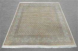 Highlighted Silk Persian Tabriz Mahi (Fish) 8.4x9.8