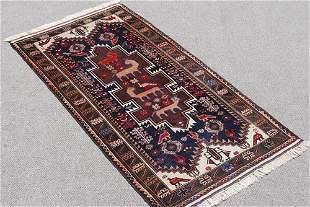 Handmade Authentic Persian Balooch 3.6x6.7