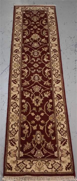 Handmade Indo Agra Runner 2.4x10.1