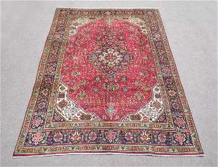 Hand Woven Semi Antique Persian Tabriz 10.1x6.6