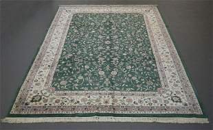 Handmade Indo Kashan Design 9.11x13.10