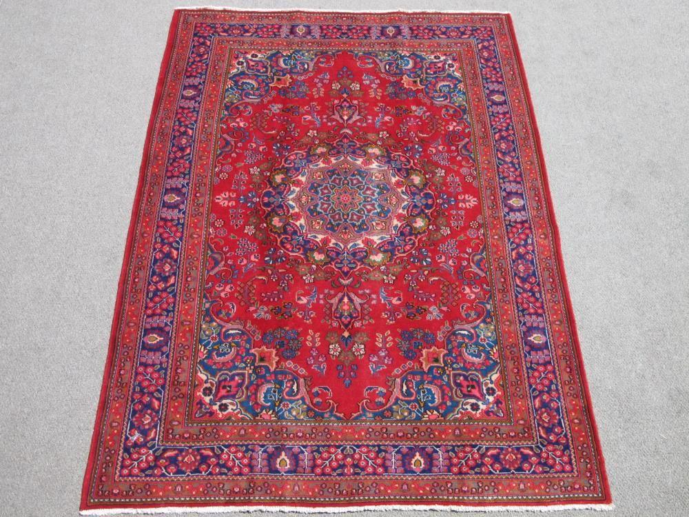 Lovely Fine Handmade Semi Antique Mashhad 9.5x6.7