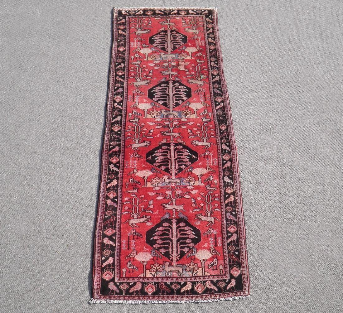 Semi Antique Persian Borjalo 3.7x10.0