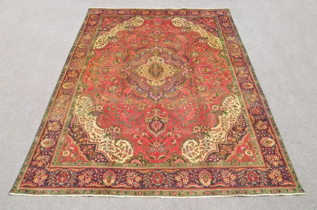 Semi Antique Persian Tabriz 13.2x9.5