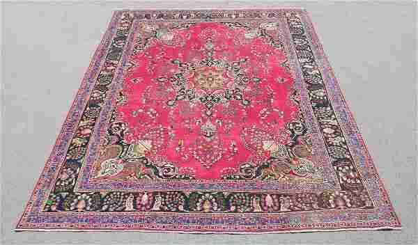 Quite Mesmerizing Semi Antique Persian Tabriz 12.7x9.10