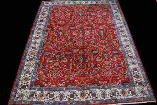 Beautiful Traditional Design Persian Tabriz 9.6x6.9