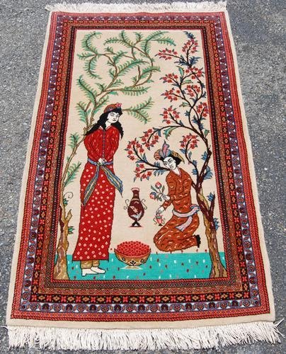 SIMPLY GORGEOUS HAND WOVEN PERSIAN TABRIZ PICTORIAL