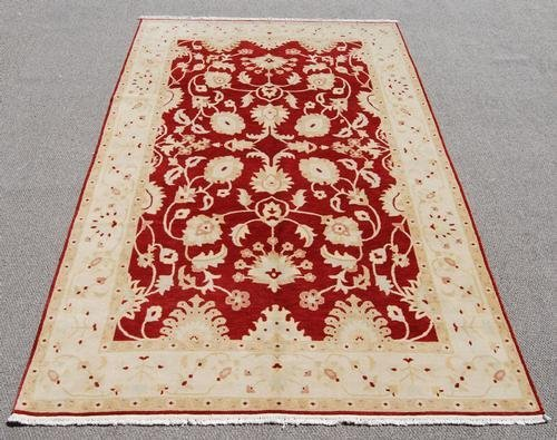 NICELY CONTRASTED HANDMADE ALLOVER DESIGN AREA RUG