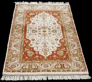 HAND-KNOTTED HERIZ SERAPI RUST VEGETABLE DYES WOOL RUG