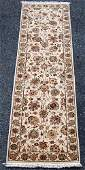Simply beautiful hand woven Tabriz design runner wsilk