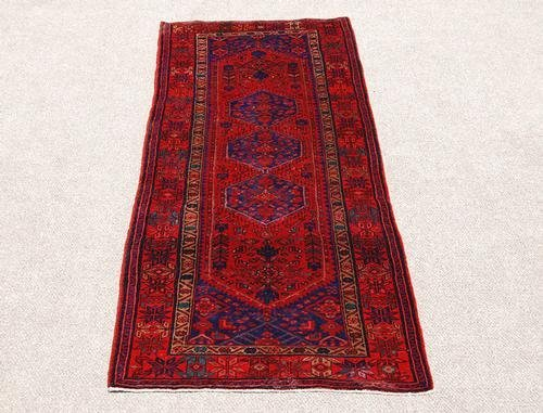 Highly Detailed Hand Woven Semi Antique Persian Hamedan - 2