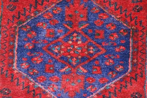 Highly Detailed Hand Woven Semi Antique Persian Hamedan - 4