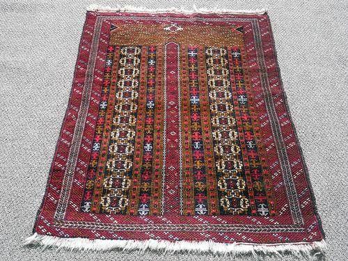 Handmade Beautiful Persian Balouch Rug 4.2 X 2.9 Feet