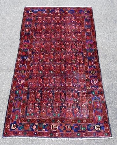 Semi-Antique Stunning Hosseinabad Hand Made Rug