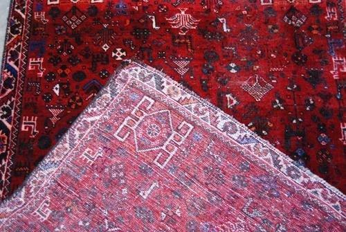 FINE LOOKING WOOL ON WOOL HAND WOVEN PERSIAN SHIRAZ - 4