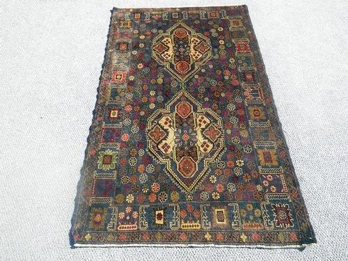 Elegant Semi-Antique Persian Balouch 3.10 x 6.8 ft. - 2