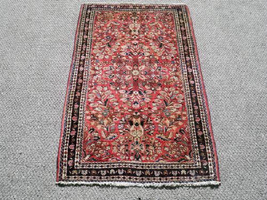 High Quality Gorgeous Persian Sarouk Rug 4 X 2.1 Feet