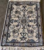 Hand Woven Silk Blended Persian Nain Rug