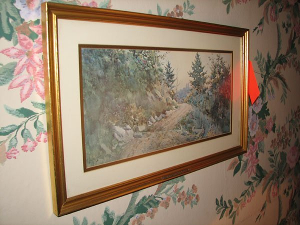 8003: COUNTRY MOUNTAIN ROAD SCENE PAINTING - NICELY FRA