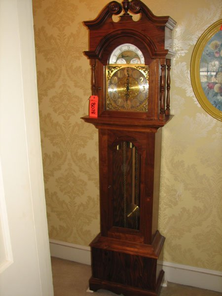 8078: BEAUTIFUL ANTIQUE GRANDMOTHERS CLOCK, EXCELLENT C