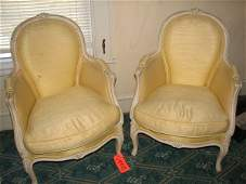 8112: MATCHING SET OF 2 CHAIRS WITH YELLOW UPHOLSTERY