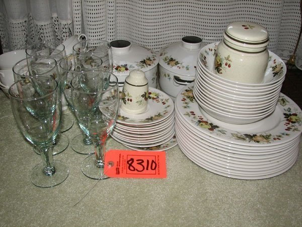 8310: ROYAL DOULTON ENGLISH TRANSLUCENT CHINA SET, 12 P