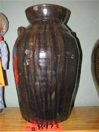 8473: BEAUTIFUL LARGE CLAY JAR, BY CRAIG OF VAIL, NC, A