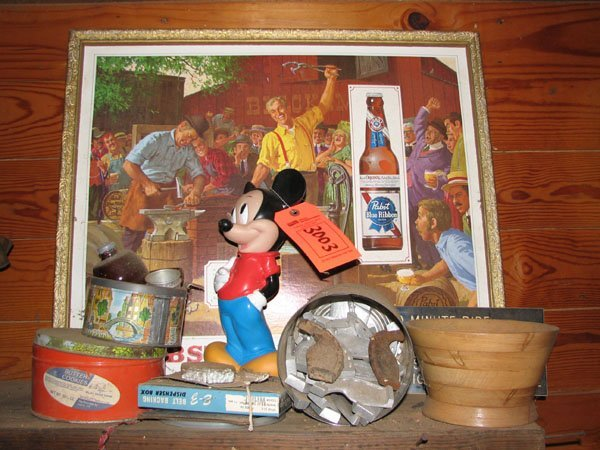 3003: MISC. LOT OF COLLECTIBLES, MICKEY MOUSE COIN BANK