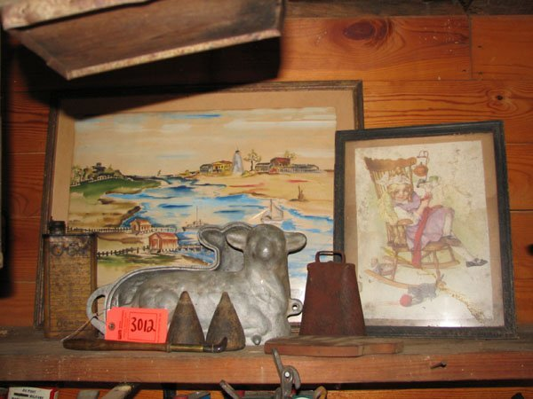 3012: MISC LOT OF COLLECTIBLES INCLUDING: A GRISWOLD CO