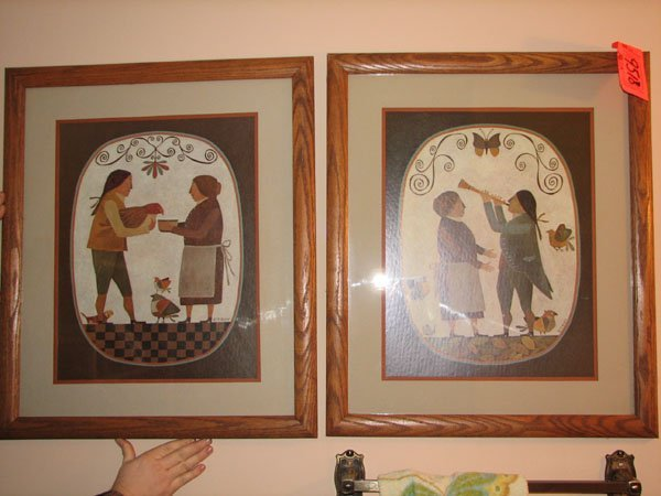 9518: PAIR OF FRAMED ART PRINT BY R. DAVEY WITH COLONIA